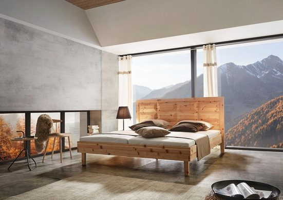 ADA premium Massivholzbett »Tyrol«, wahlweise mit Lattenrost und Matratze