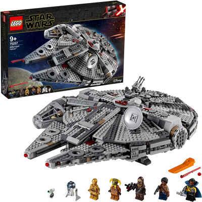 LEGO® Konstruktionsspielsteine »Millennium Falcon™ (75257), LEGO® Star Wars™«, (1351 St), Made in Europe