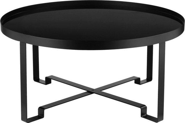 Wohnzimmertische - COUCH♥ Couchtisch »Vierbeiner«, aus Metall mit Glaseinsatz, COUCH Lieblingsstücke  - Onlineshop OTTO