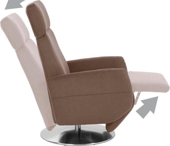 Places of Style TV-Sessel »Kobra«  Fuß: Drehteller aus Edelstahl  Gasdruckfeder