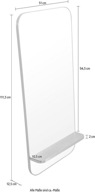 COUCH♥ Spiegel »Me«| Spiegel mit Regal| COUCH Lieblingsstücke | Schlafzimmer > Kleiderschränke > Schwebetürenschränke | COUCH♥