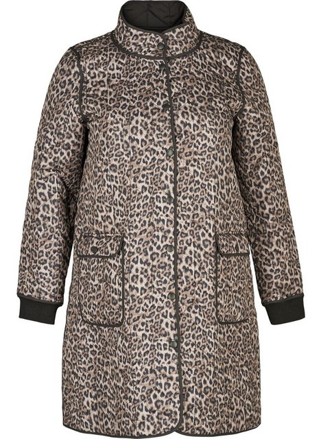 ZAY Outdoorjacke Damen Große Größen Steppmantel Leopardmuster Warm Übergangsjacke | Sportbekleidung > Sportmäntel > Outdoormäntel | ZAY
