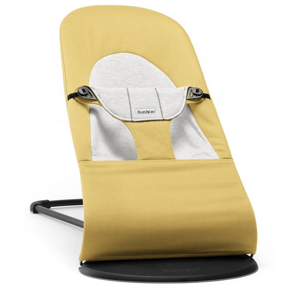 BABYBJÖRN Babywippe Balance Soft Gelb Grau Cotton Jersey