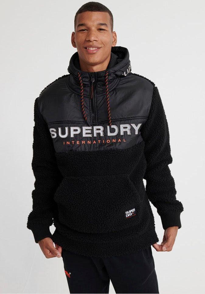Superdry Kapuzensweatjacke »SHERPA WORLDWIDE STEALTH HALF ZIPHOOD« online kaufen | OTTO