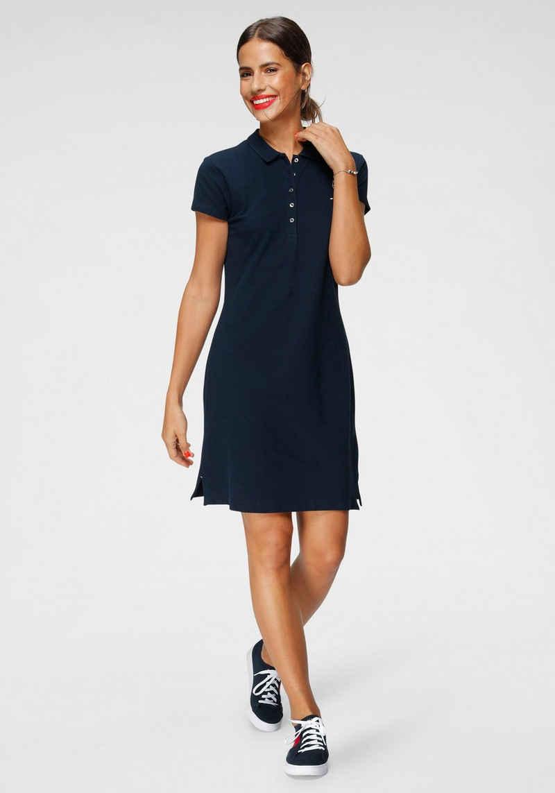 Tommy Hilfiger Jerseykleid »HERITAGE SLIM POLO DRESS« mit Branding Knöpfen & Tommy Hilfiger Logo-Flag