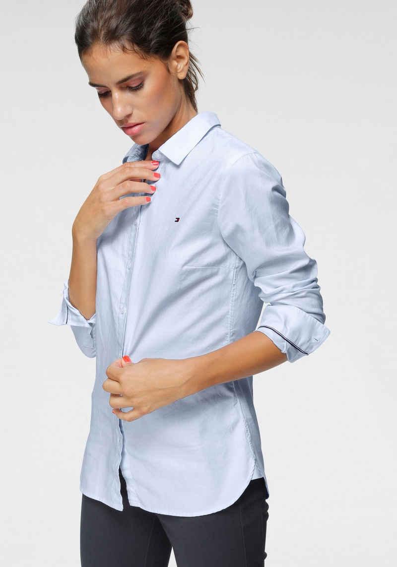 Tommy Hilfiger Hemdbluse »HERITAGE REGULAR FIT SHIRT« in hochwertiger Oxford Qualität mit Tommy Hilfiger Logo-Flag