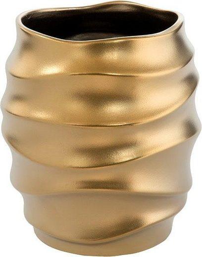 Fink Übertopf »FABIA, goldfarben« (1 Stück), dekorativer Blumentopf, handgefertigt, aus Keramik, verschiedene Durchmesser erhältlich