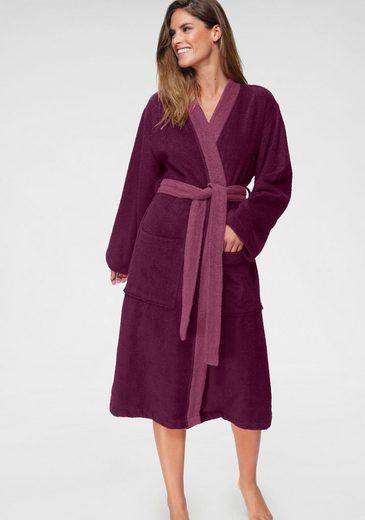 Unisex-Bademantel »Kim«, my home, mit dezent farblich abgesetztem Kimonokragen