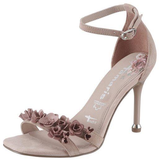 Tamaris »Calida« High-Heel-Sandalette mit Metall-Blüten
