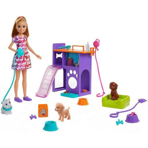 Mattel® Exklusiv Barbie Hunde-Welpen Spielset mit Stacy Puppe, Hunde