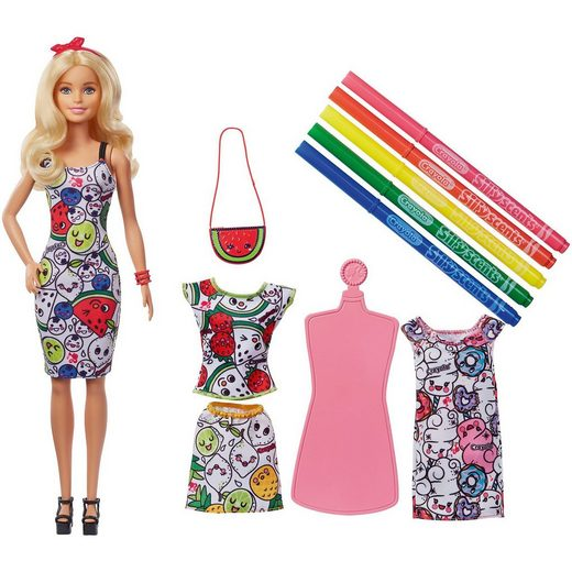 Mattel® Barbie loves Crayola Color-In Scented Fashions Puppe