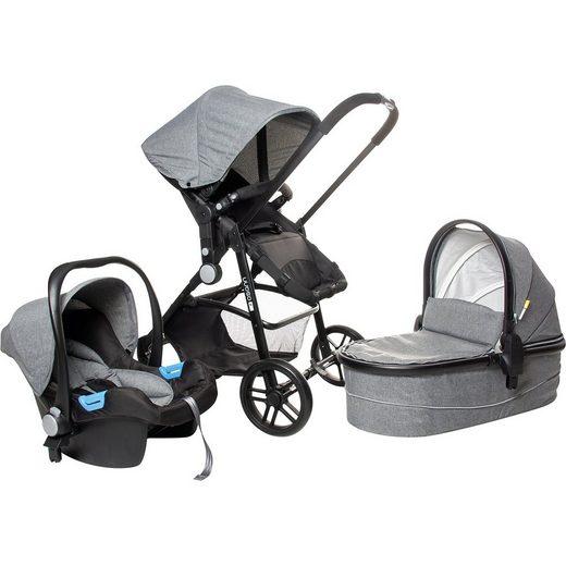 Osann Kombi Kinderwagen POP inkl. Babyschale, 3-in-1 Set, Grey Mel