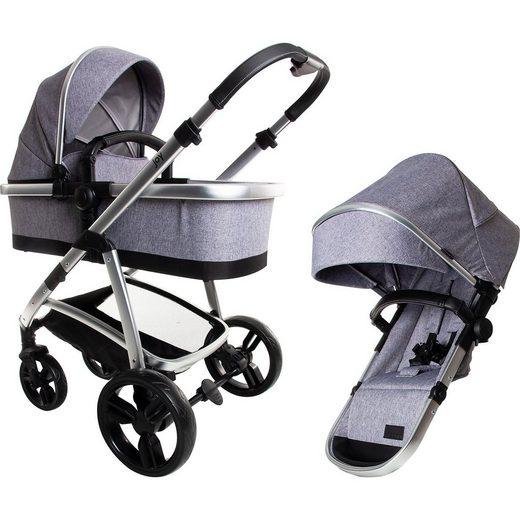 Osann Kombi Kinderwagen Joy Plus, Grey Melange