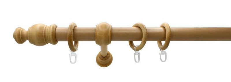 Gardinenstange »Holz 28 mini«, sunlines, Ø 28 mm, 1-läufig, Fixmaß, Made in Germany
