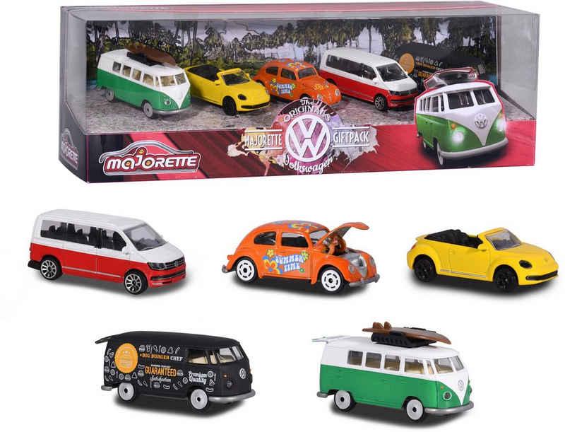 majORETTE Spielzeug-Auto »Volkswagen Giftpack«, (Set, 5-tlg)