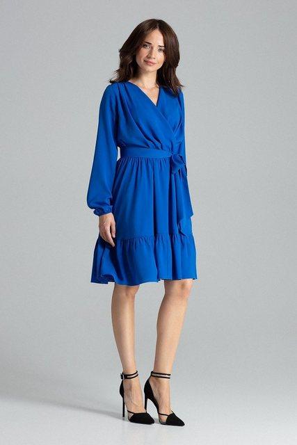 LENITIF Blusenkleid mit Taillengürtel