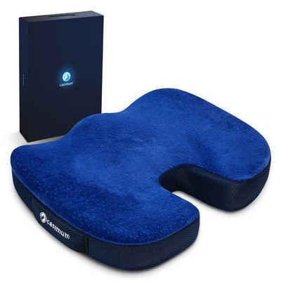 casimum Steißbeinkissen »Ergonomisches Sitzkissen«, Sitzpolster für Bürostuhl. Viskoelastische Sitzauflage, Home Office Stuhlkissen