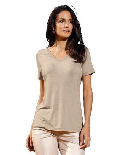 Amy Vermont Shirt mit metallisiertem Garn
