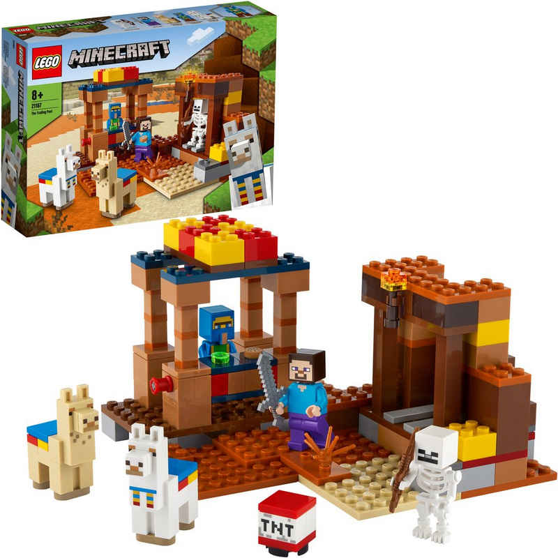 LEGO® Konstruktionsspielsteine »Der Handelsplatz (21167), LEGO® Minecraft™«, (201 St), Made in Europe