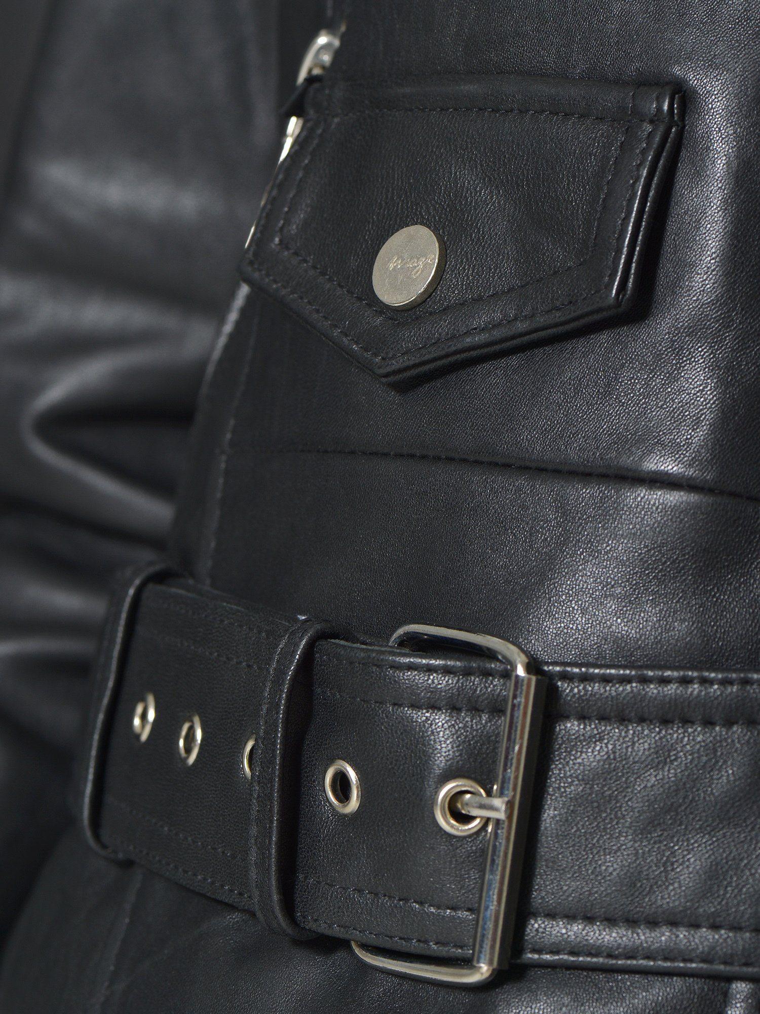 Maze Lederjacke Mit Schrägen Taschen »tioga«