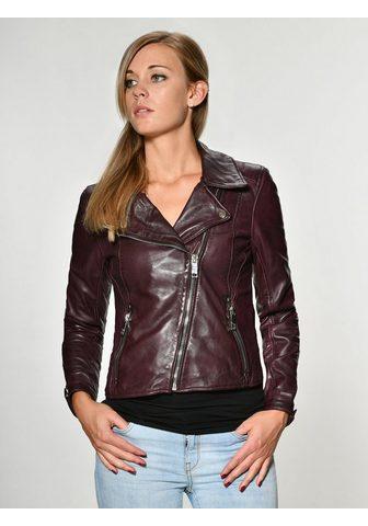 MAZE Куртка кожаная с асимметричный замок &...