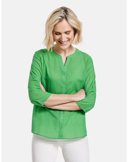 GERRY WEBER Klassische Bluse »3/4 Arm Bluse organic cotton« figurumspielend