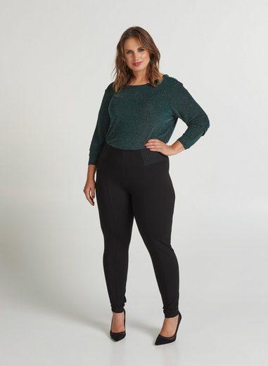 Zizzi Leggings Zizzi Damen Große Größen Eng Hose Slim Fit Stretch