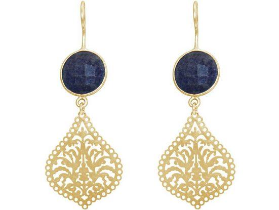 Gemshine Paar Ohrhänger »Mandala Tropfen und Saphiren Midnight Blue« Made in Spain
