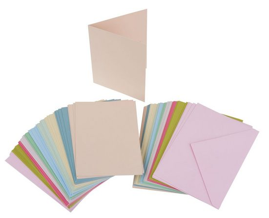100-tlg. Mega-Karten-Set, pastellfarben