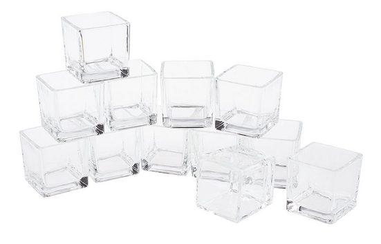"Teelichtgläser ""Cube"" 12 Stück"