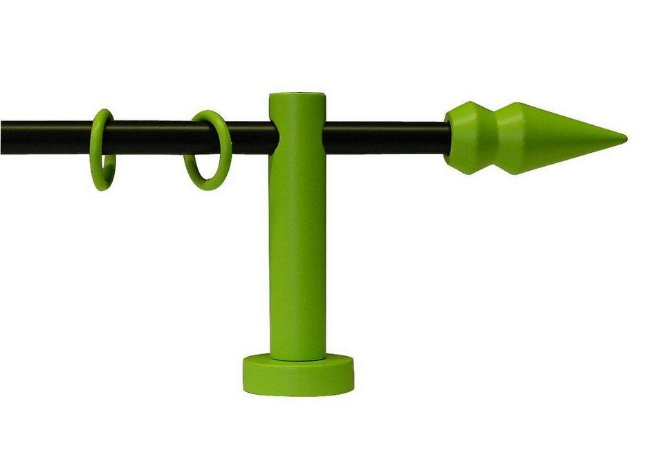 Gardinenstange »One Spitze ø 16 mm«, Garesa, nach Maß in schwarz/grün