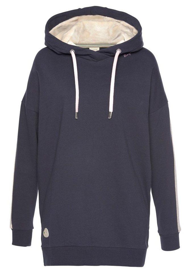 Damen Ragwear Sweatshirt »LEXYA SOLID« mit Alloverprint blau, schwarz, weiß | 04251655734291