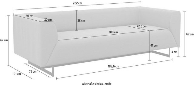 Sofas - machalke® 2,5 Sitzer »Wedge«  - Onlineshop OTTO