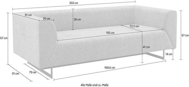 Sofas - machalke® 2 Sitzer »Wedge«  - Onlineshop OTTO
