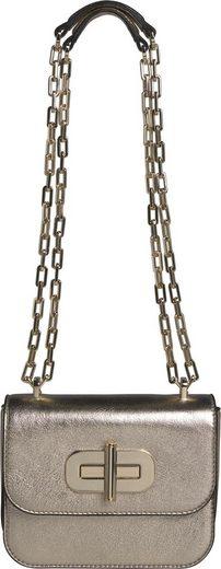 TOMMY HILFIGER Mini Bag »TURNLOCK MINI CROSSOVER GOLD«, in modischer Metallic Optik