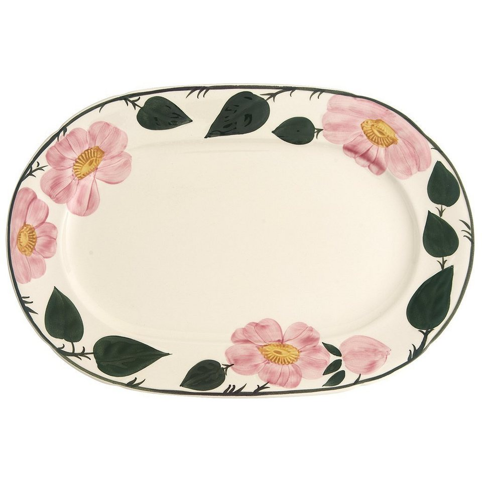 VILLEROY & BOCH Platte oval 32cm »Wildrose« in Dekoriert