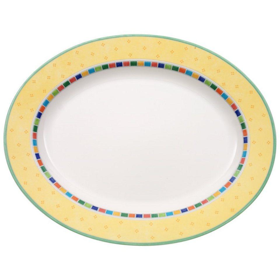 VILLEROY & BOCH Platte oval 41cm »Twist Alea Limone« in Dekoriert