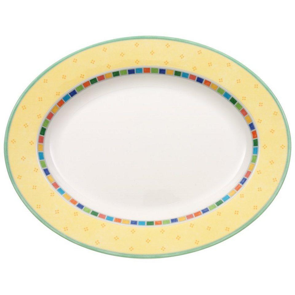 VILLEROY & BOCH Platte oval 34cm »Twist Alea Limone« in Dekoriert