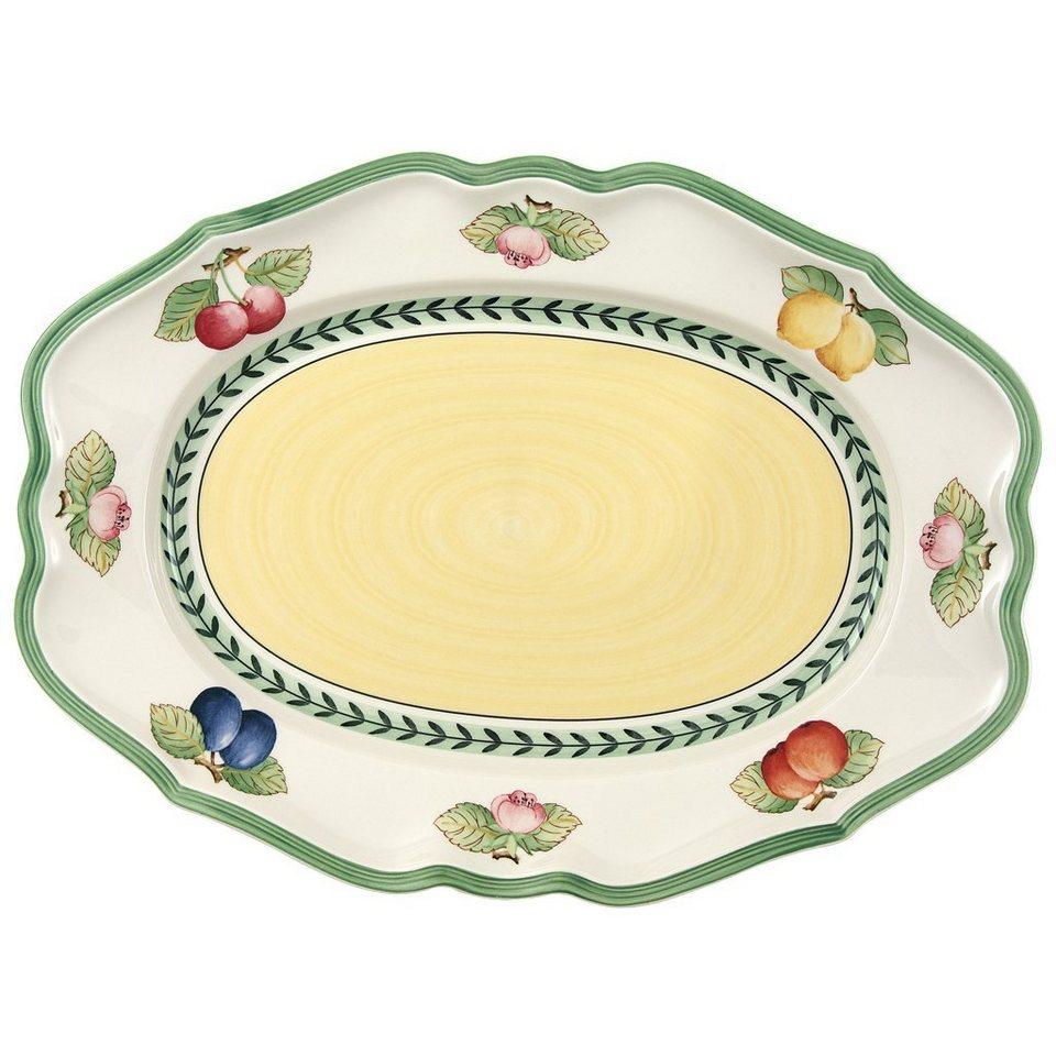 VILLEROY & BOCH Platte oval 37cm »French Garden Fleurence« in Dekoriert