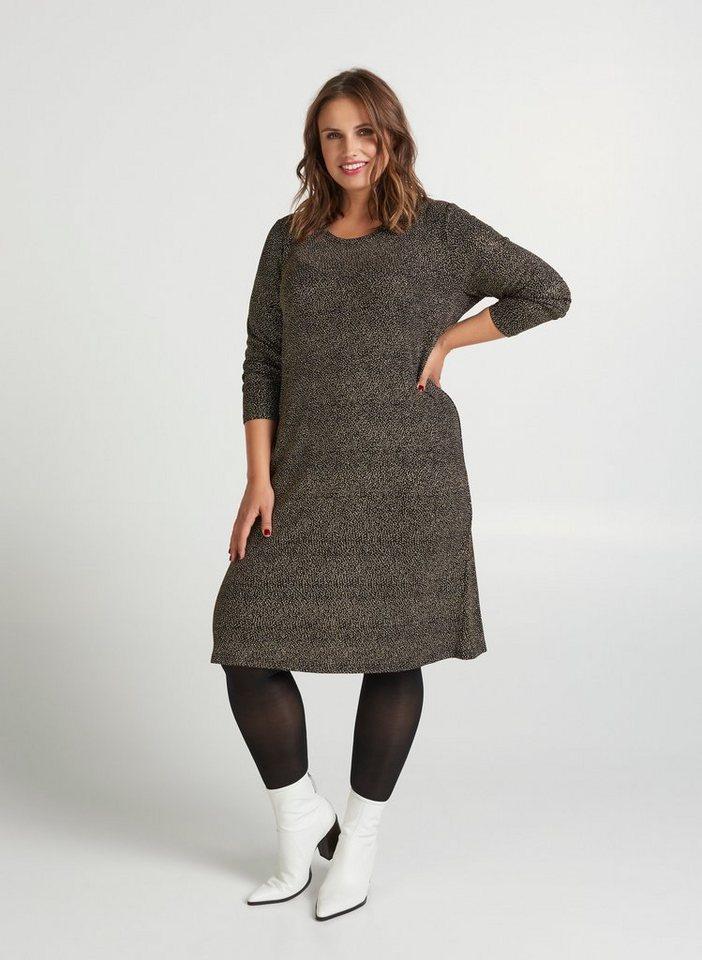 newest 83646 c1b9e Zizzi Partykleid Damen Große Größen Kleid Langarm Rundhals Glitzer  Abendkleid online kaufen | OTTO