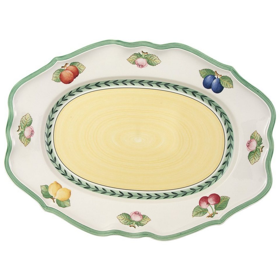 VILLEROY & BOCH Platte oval 44cm »French Garden Fleurence« in Dekoriert