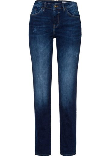 edc by Esprit Straight-Jeans mit dezenten Destroyed-Effekten