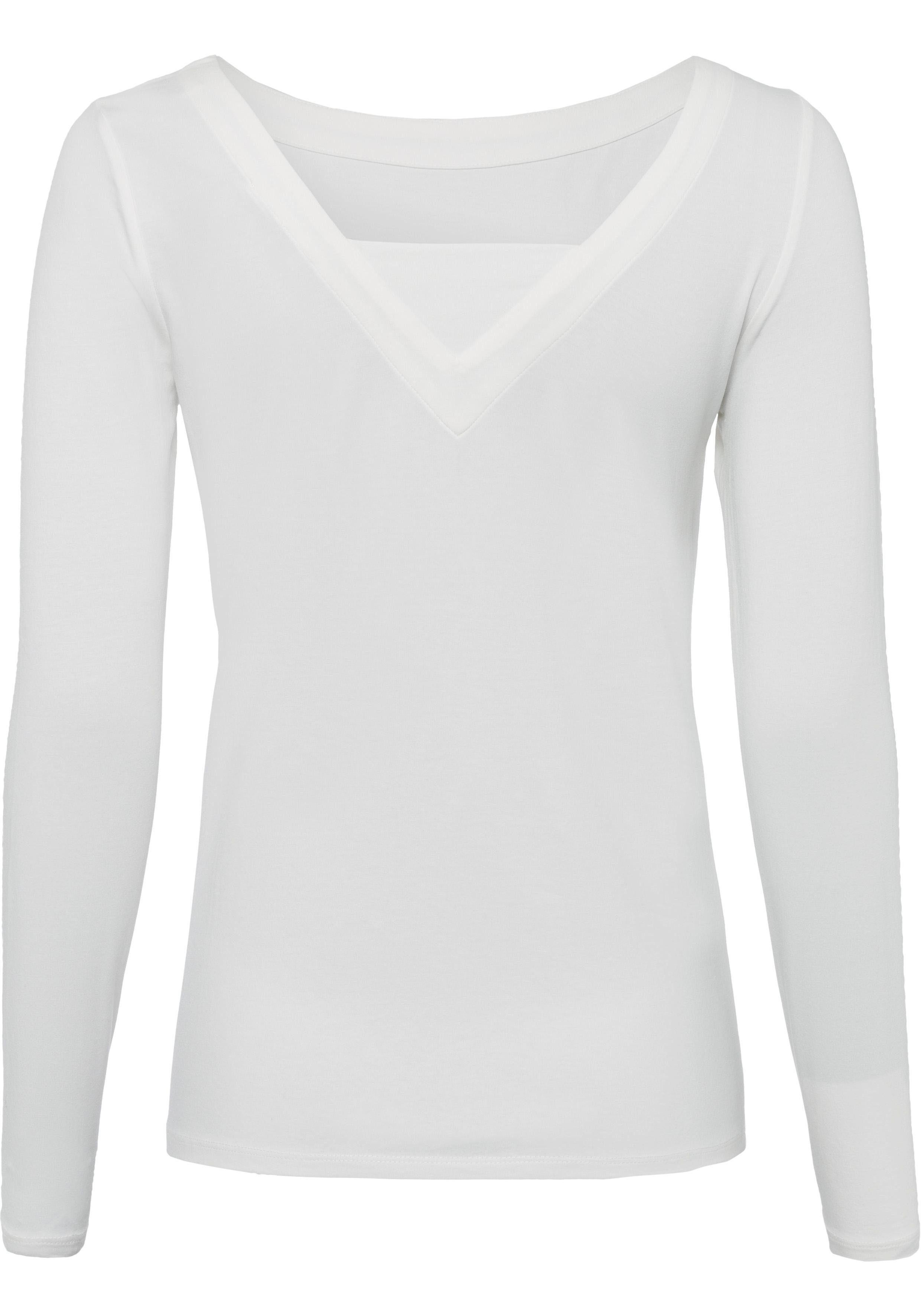 edc by Esprit Langarmshirt mit modischem V Ausschnitt online kaufen | OTTO