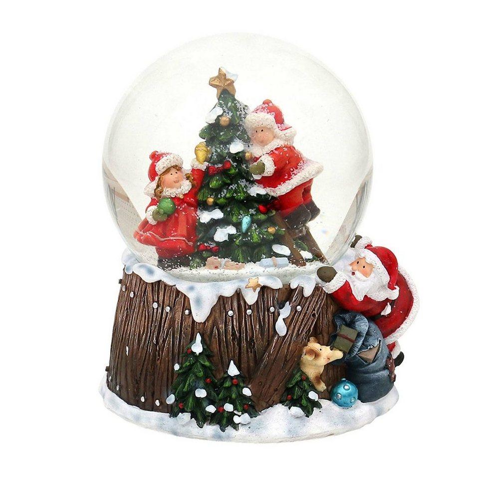sigro schneekugel »kinder am tannenbaum« christmas