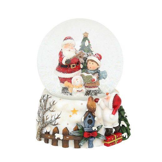 SIGRO Schneekugel »Santa mit Kind«