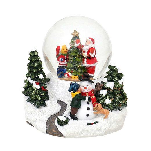 SIGRO Schneekugel »Santa & Bär«