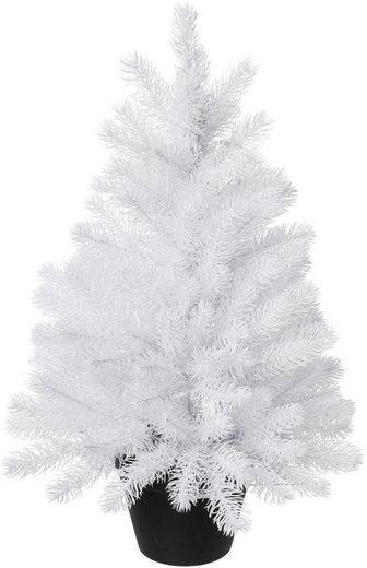 k nstlicher weihnachtsbaum im topf aus kunststoff online. Black Bedroom Furniture Sets. Home Design Ideas