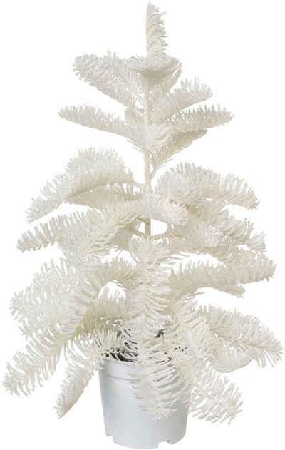 Künstlicher Weihnachtsbaum »Nobilistanne«, Edeltanne, im weißen Topf