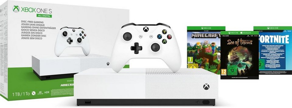 xbox one s 1tb all digital refresh ohne laufwerk online. Black Bedroom Furniture Sets. Home Design Ideas