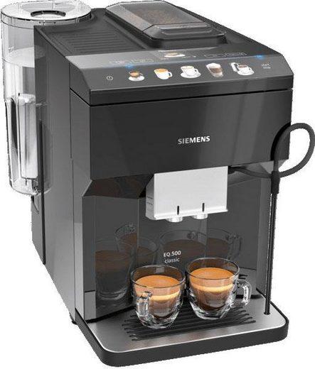SIEMENS Kaffeevollautomat EQ.500 classic TP503D09, einfache Bedienung, Cappucinatore, zwei Tassen gleichzeitig